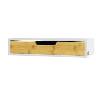SoBuy Wall Shelf Storage Display scaffalature con cassetto, FRG92-WN