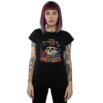 Guns Vintage Skull t-shirt N Roses femminile