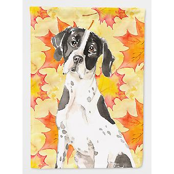 Fall Leaves English Pointer Flag Canvas House Size