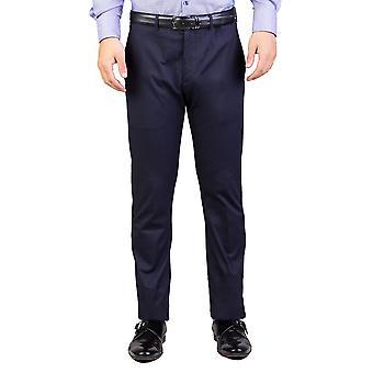 Dior Homme mäns bomull Slim Fit Chino byxor Navy blå