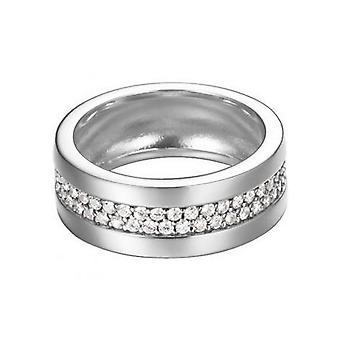 ESPRIT women's ring silver cubic zirconia pave pure, ESRG92214A1