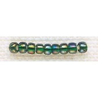 Mill Hill Glass Beads Size 8/0 3mm 6g-Golden Emerald