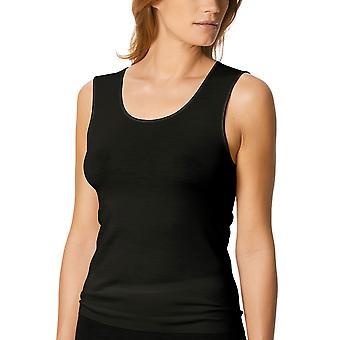 Mey Women 66575-3 Women's Exquisite Black Solid Colour Tank Vest Top