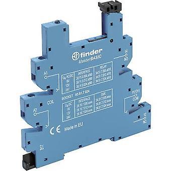 Relay socket + bracket, + LED, + EMC emission supressor 1 pc(s) Finder 93.61.7.024 Compatible with series: Finder 34 series Finder 34.51, Finder 34.81