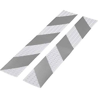 Conrad Components 1226954 Warning stripe RTS Silver, Grey (L x W) 400 mm x 60 mm 2 pc(s)