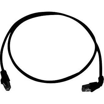 Telegärtner RJ45 netværk kabel CAT 6A S/FTP 0,5 m sort flammehæmmende, halogenfrie