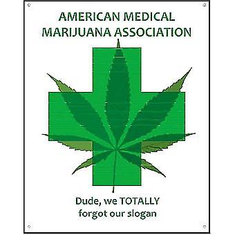 Amerikaanse medische marihuana vereniging grappige Metal Sign