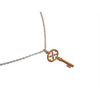Gemshine - damas - collar - clave colgante - llave - - 3,5 cm chapado en oro