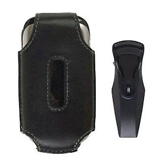 Soluciones inalámbricas dispone de funda de cuero para Samsung SPH-M240 (negro)