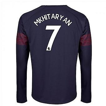 2018-2019 Arsenal Langarm Puma Weg lange Hemd (Mkhitaryan 7) - Kinder