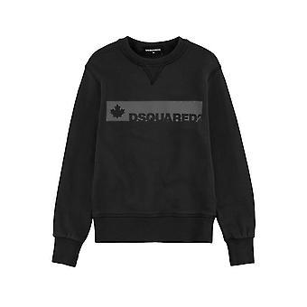 DSQUARED2 Kids DSQUARED2 Kids Zwart & Logo Sweatshirt grijs