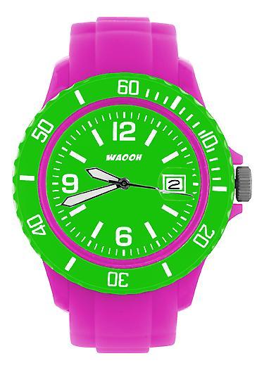 Waooh - muestra MONACO38 rosa dial y bisel color