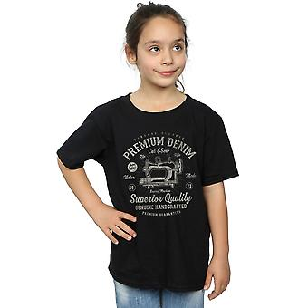 Drewbacca Girls Premium Denim T-Shirt