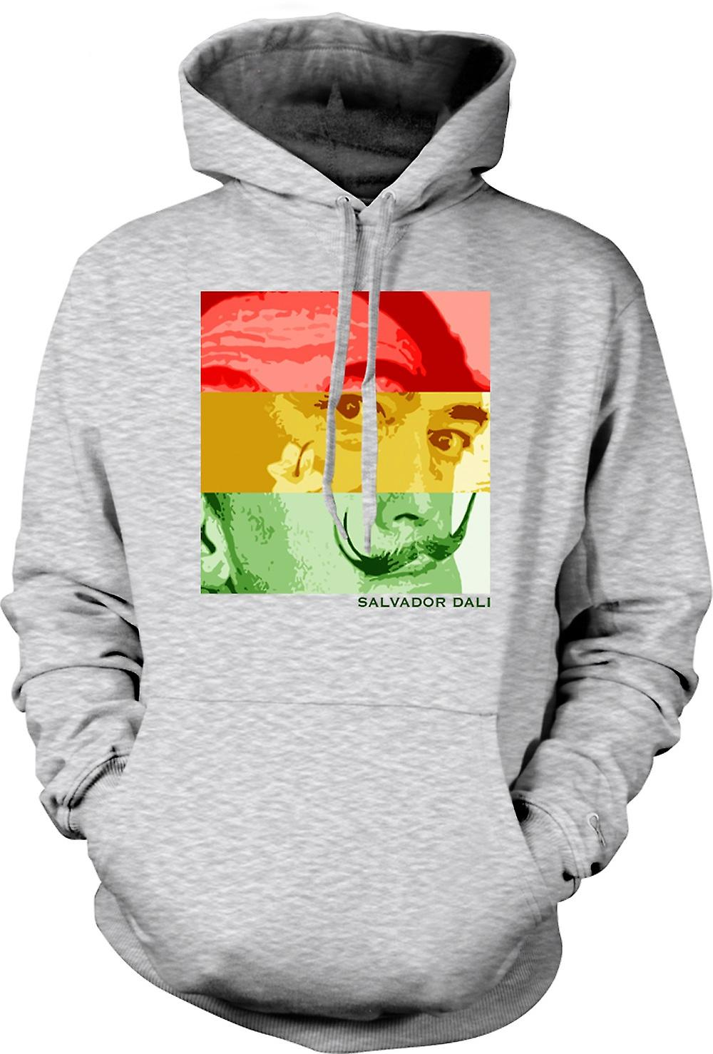 Mens Hoodie - Salvador Dali - Pop Art - Surreal Artist