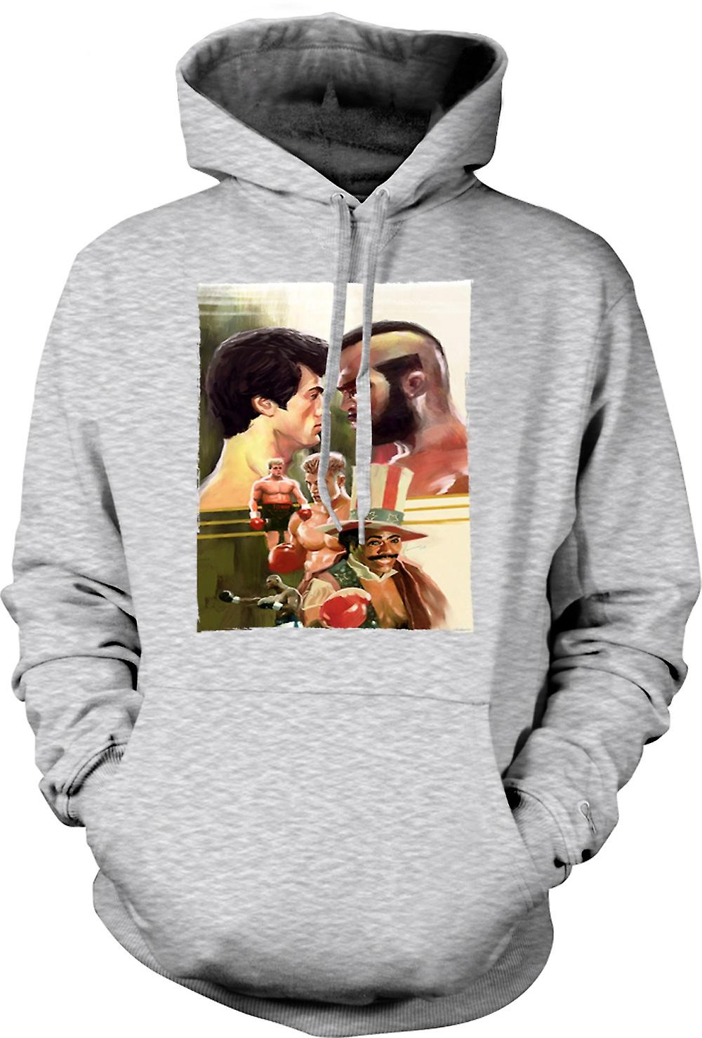 Herren Hoodie - Rocky - Box-Film - Collage
