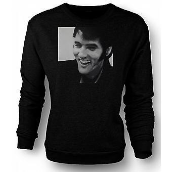 Sweatshirt Elvis Presley Smiling - BW - het Pop-art