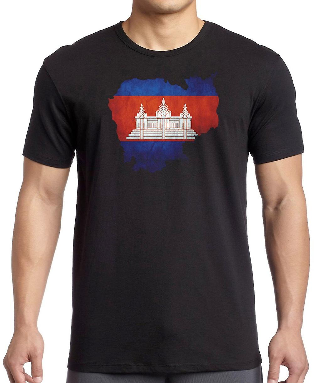 Cambodia Cambodian Flag Map Kids T Shirt