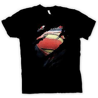 Мужская футболка - новый костюм супер-человек - супергерой разорвал дизайн