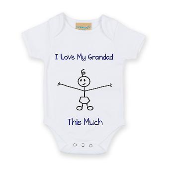 I Love My Grandad This Much Boys White Baby Grow