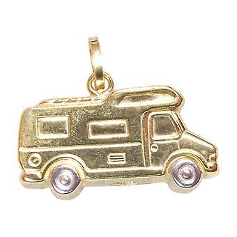 Golden caravan pendant