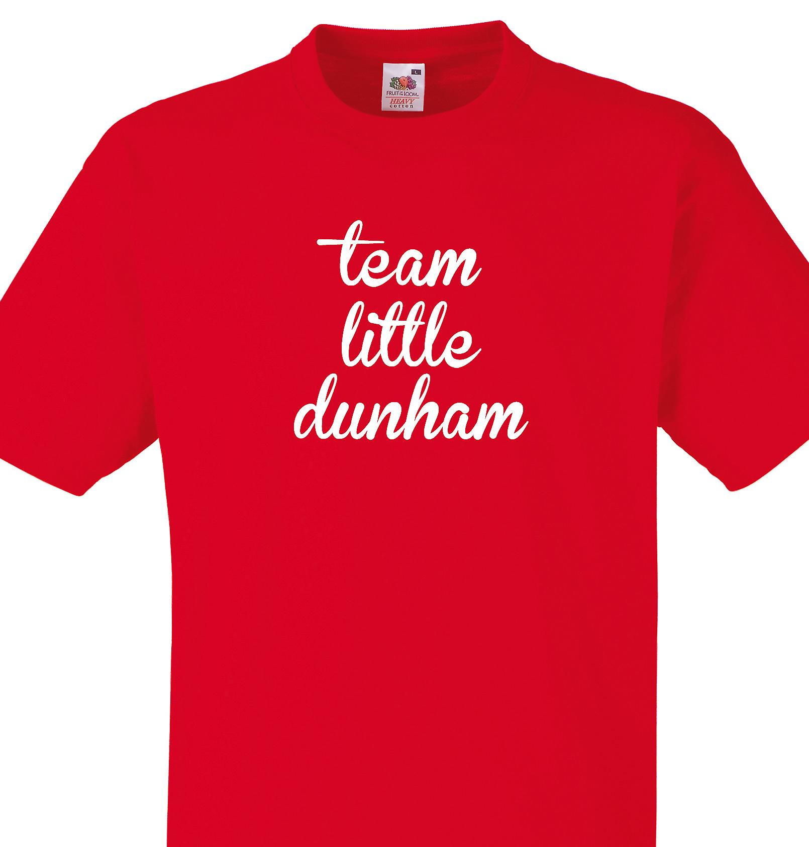 Team Little dunham Red T shirt