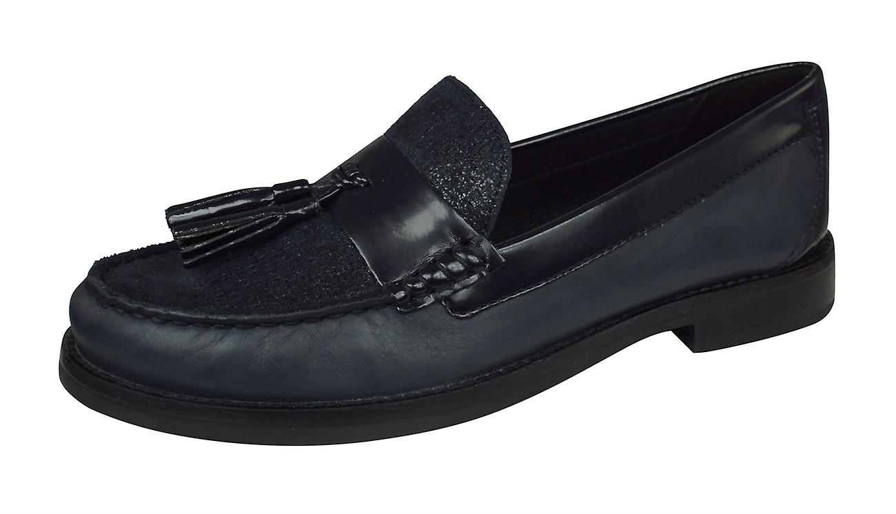 Geox Promethea C Smooth Leather femmes Slip on chaussures - Navy