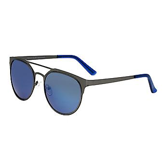 Rasse-Mensa-Titanium polarisiert Sonnenbrille - Rotguss/blau
