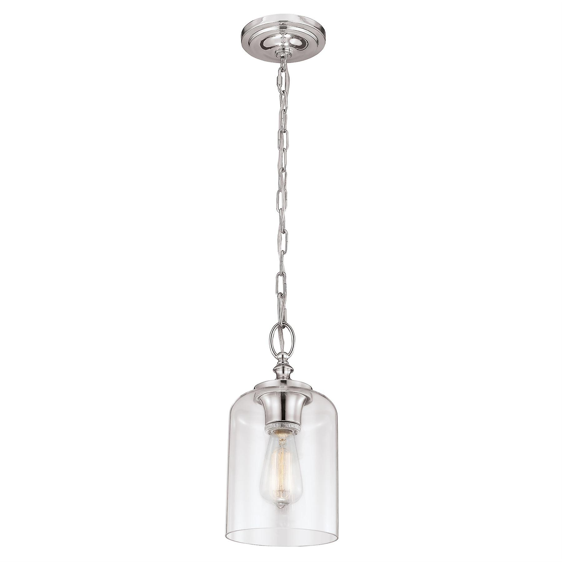 HounsFaible Mini pendentif Polished Nickel - Elstead lumièreing