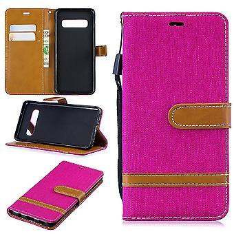 Samsung Galaxy S10 Handy-Hülle Schutz-Tasche Case Cover Kartenfach Etui Wallet Pink