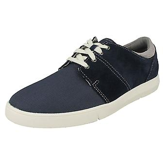 Mens Clarks Casual Lace Up Shoes Landry Edge
