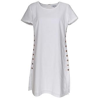 Vestido de manga corta Alice Collins con botones laterales