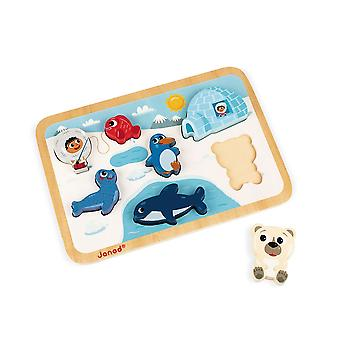 Janod Arctic Chunky Wooden Puzzle