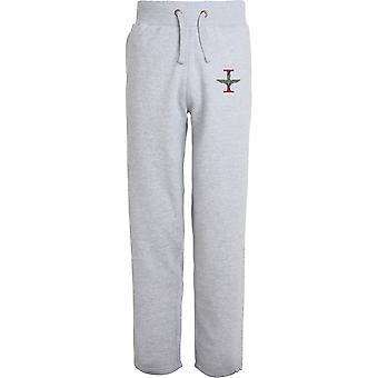 1er Bataillon Parachute Regiment - Licensed British Army Embroidered Open Hem Sweatpants / Jogging Bottoms