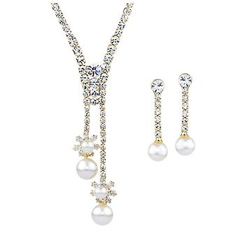 14K Gold Plated Simulated Pearl Drop Set