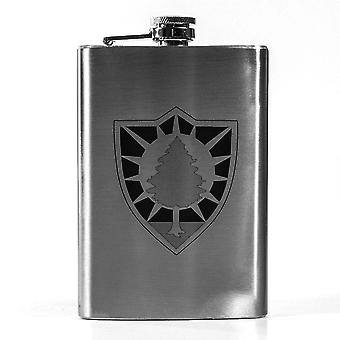 8oz state national guard - maine flask l1