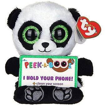 TY Peek-A-Boos Poo Panda Phone Holder cusepet mobile phone Stand