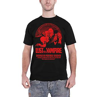 Lust For A Vampire T Shirt Movie Logo new Official Plan 9 Vintage Horror Mens