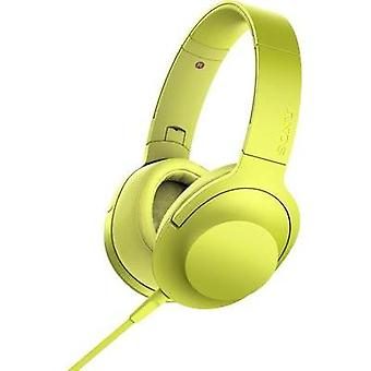 Headphone Sony hear on MDR-100AAP On-ear Foldable, High-res audio, Headset Yellow