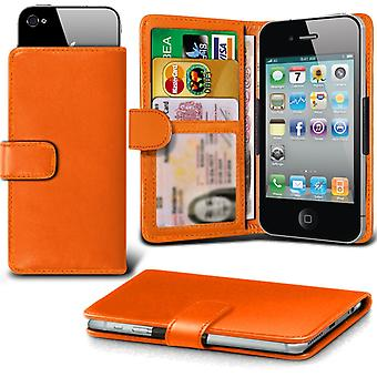 ( Orange) Case For Xiaomi Redmi 3 Faux Leather Holdit Adjustable Wallet Case Xiaomi Redmi 3 Cover By i-Tronixs