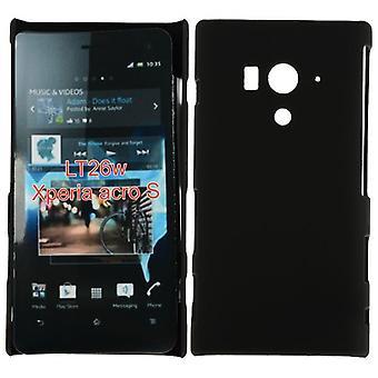 Suave cubierta de plástico dura para LT26w de Sony Xperia acro (negro)