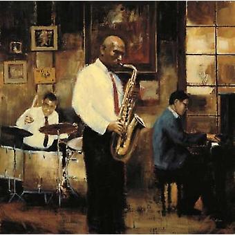 Latinerkvarteret Jazz plakatutskrift av Myles Sullivan