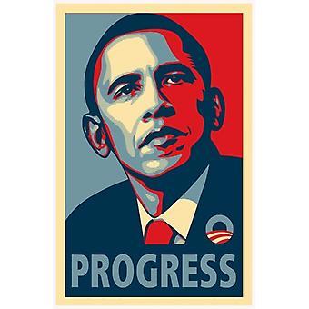 Affiche de la campagne d'Obama RARE - affiche de cinéma de PROGRÈS (11 x 17)