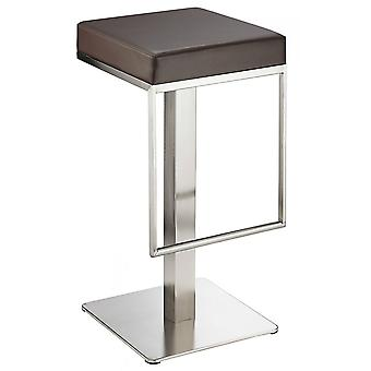 Noros Kitchen Brushed Bar Stool Seat No Back Fixed Height