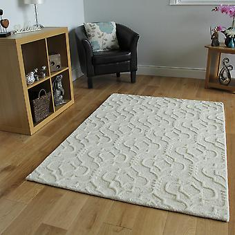 Duck Egg Blue Trellis Wool Rug Athena