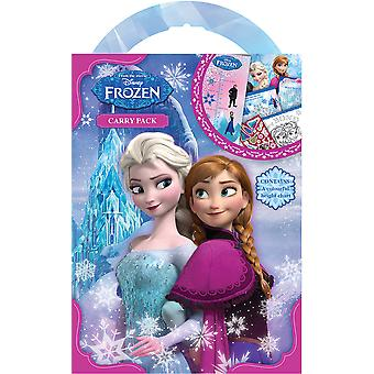 Disney Frozen Carry Pack Stickers Colouring Childrens Activity Stocking Filler Gift