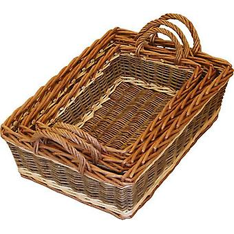 Set van 3 Malvern Wicker portie-Trays