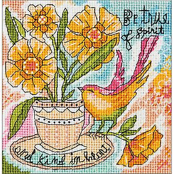 Be True Of Spirit Mini Needlepoint Kit-5