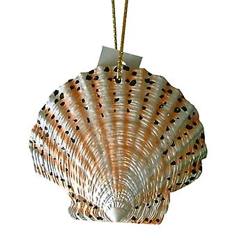 Tropical Beach Seashell Tiki Christmas Ornament Spotted ORNShell02