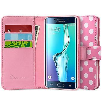Jag-Blason Galaxy S6 Edge Plus plånbok läderfodral - Dal rosa