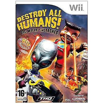 Ødelægge alle mennesker! Store Willy Unleashed Nintendo Wii spil